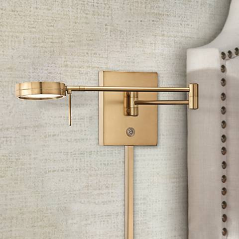 George Kovacs Honey Gold LED Swing Arm Wall Lamp