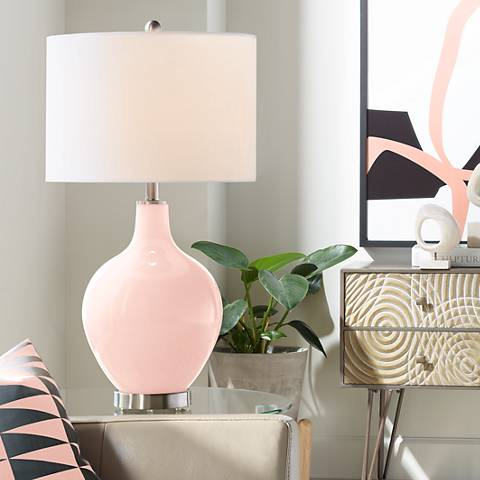 Rose Pink Ovo Table Lamp