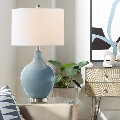 Smoky Blue Ovo Table Lamp