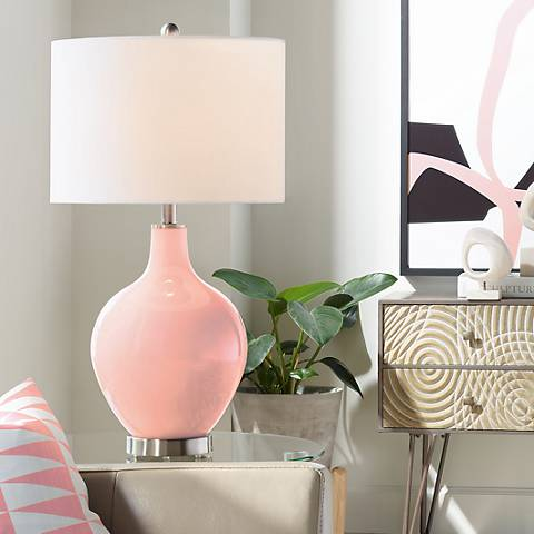 Mellow Coral Ovo Table Lamp