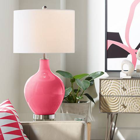 Eros Pink Ovo Table Lamp