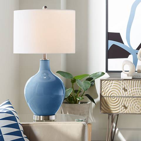 Regatta Blue Ovo Table Lamp