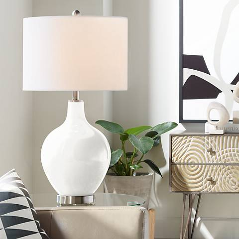 Winter White Ovo Table Lamp