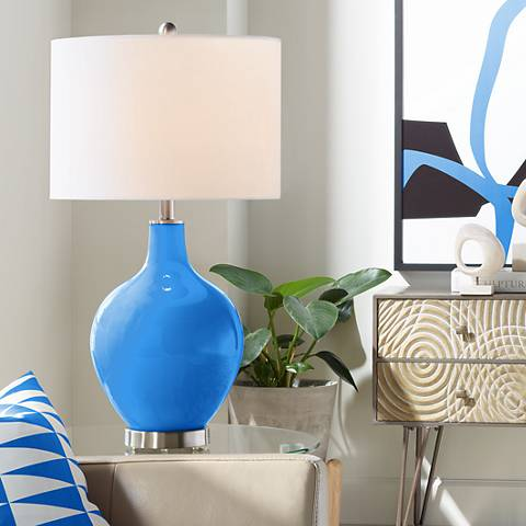 Royal Blue Ovo Table Lamp
