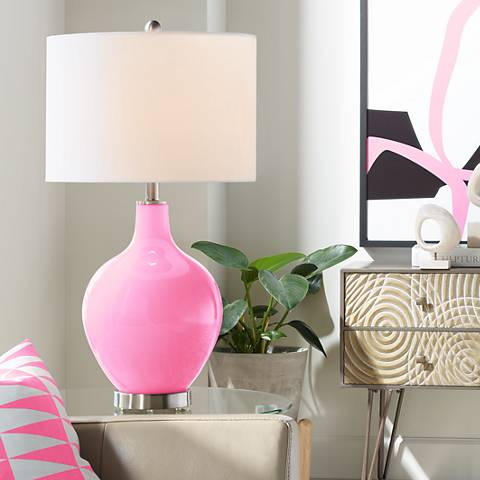 Pale Pink Ovo Table Lamp