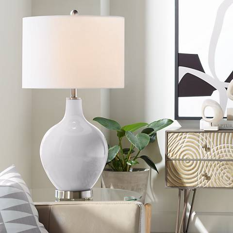 Swanky Gray Ovo Table Lamp