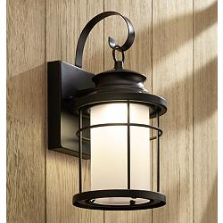 "Warburton 13"" High Black LED Outdoor Wall Light"