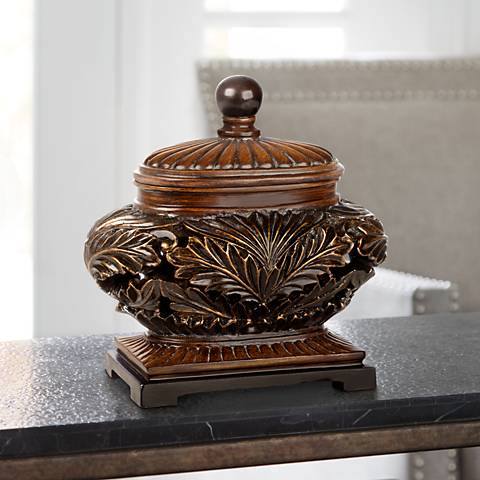 Weldona Decorative Brown Bowl with Lid