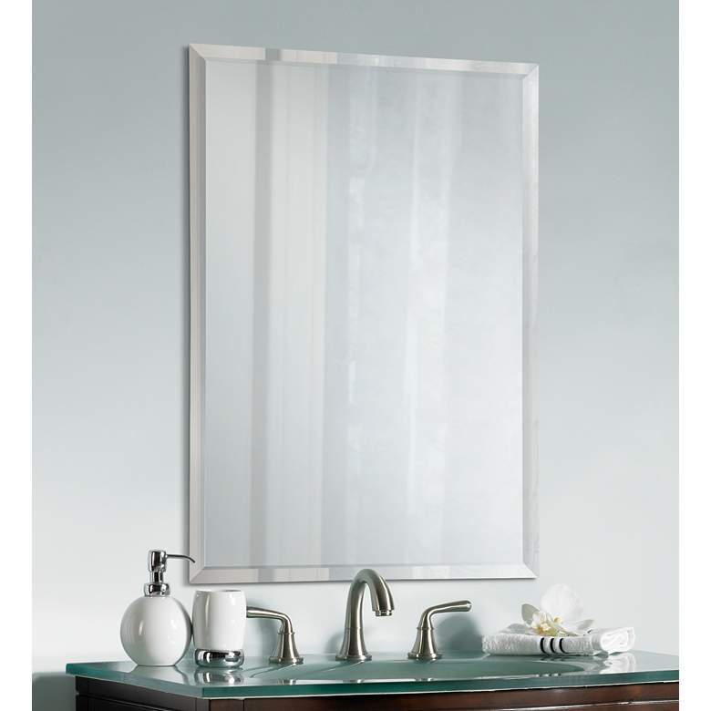 "Feiss Infinity Rectangular 36"" High Wall Mirror"