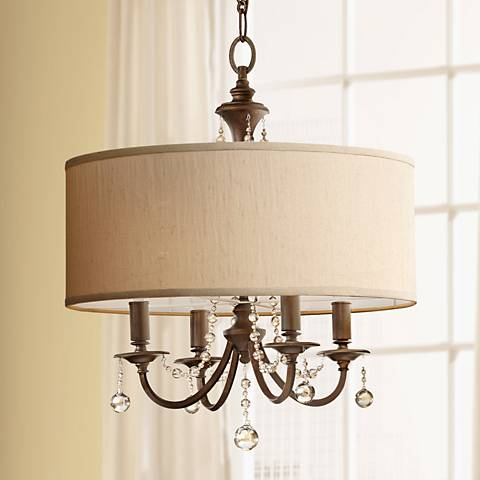 "Feiss Clarissa 21"" Wide Firenze Gold Pendant Light"