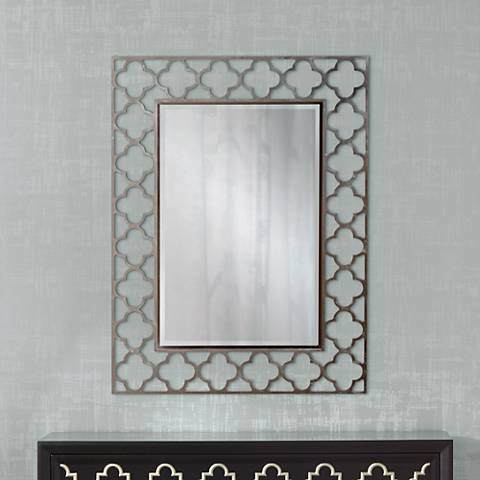 "Medrassa Tile Openwork 30"" x 40"" Rectangular Wall Mirror"