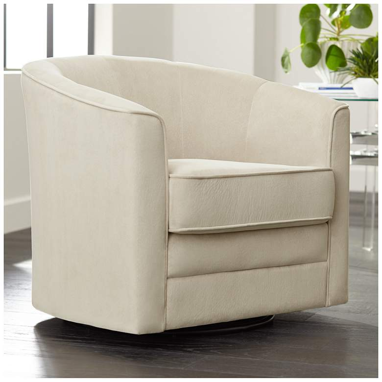 Keller Argos Muse Pearl Velvet Swivel Chair