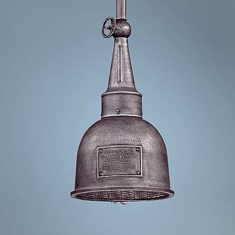 "Raleigh 10"" Wide Old Silver Indoor - Outdoor Mini Pendant"