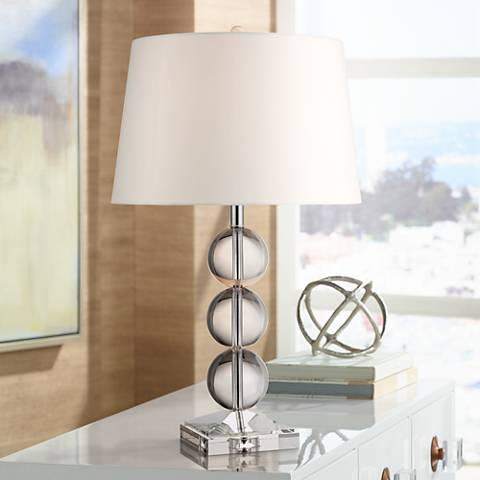 Mersenne Crystal Globe Table Lamp by 360 Lighting