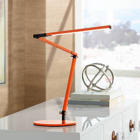 Gen 3 z bar mini warm led orange desk lamp with touch dimmer gen 3 z bar mini warm led orange desk lamp with touch dimmer aloadofball
