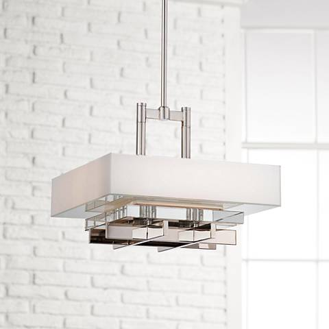 "Metropolitan Eden Roe 18"" Wide 4-Light Nickel Pendant"
