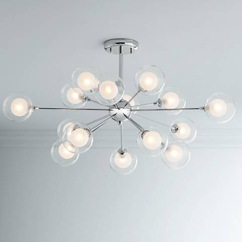 Possini Euro Design Glass Sphere 15 Light Ceiling Light