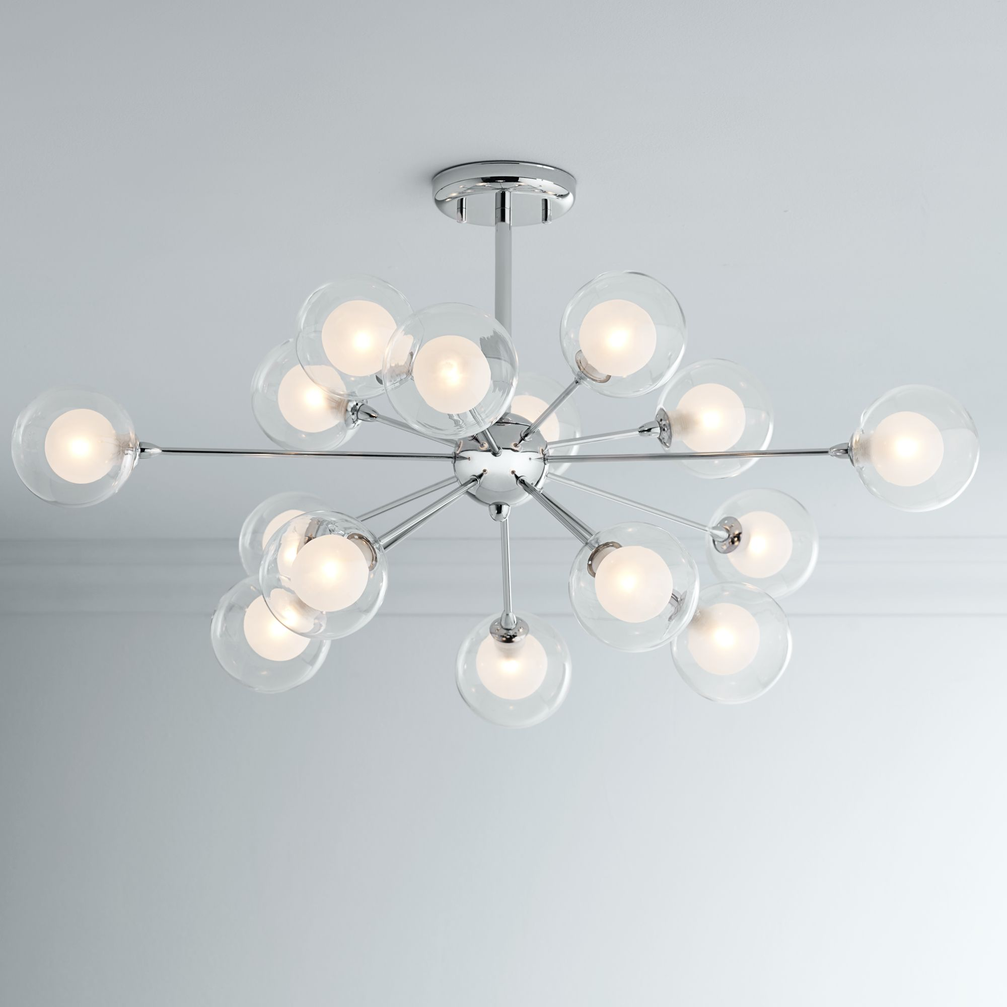Attractive Possini Euro Design Glass Sphere 15 Light Ceiling Light Design Inspirations
