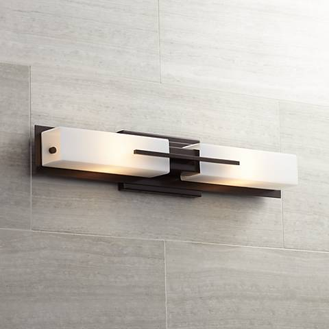 Possini Euro Midtown 23 1 2 H Bronze Bath Bar Light Fixture