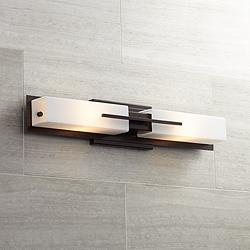 "Possini Euro Midtown 23 1/2""H Bronze Bath Bar Light Fixture"
