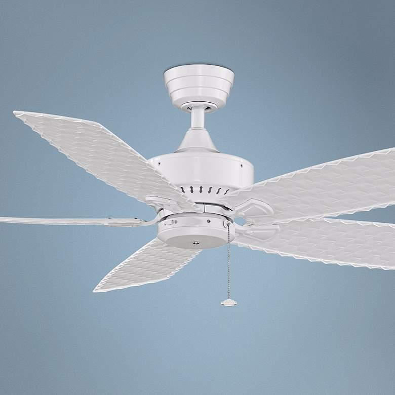 "52"" Fanimation Cancun Indoor/Outdoor White Ceiling Fan"