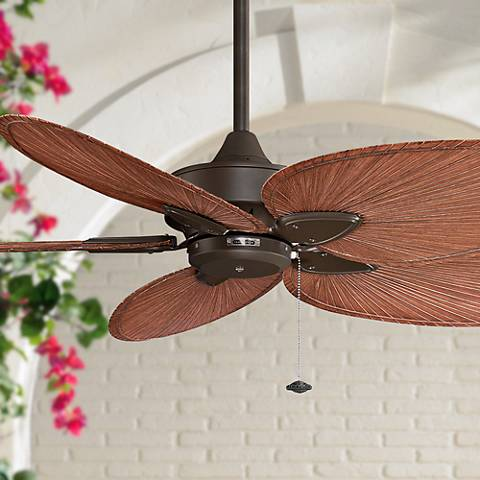 "52"" Fanimation Windpointe Palm Bronze Ceiling Fan"