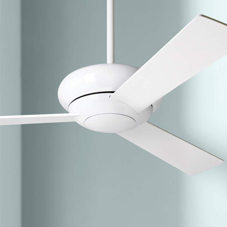 "42"" Modern Fan Altus Gloss White Ceiling Fan"
