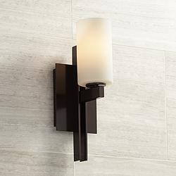 "Possini Euro Ludlow 14"" High Bronze Wall Sconce"