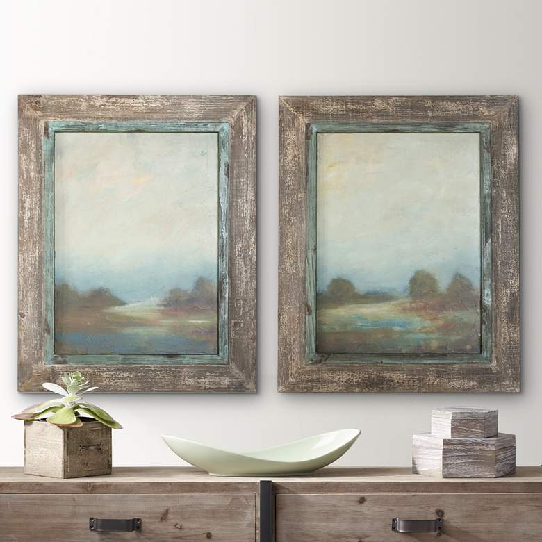 "Uttermost Set of 2 Morning Vistas 31""H Wall Art Prints"