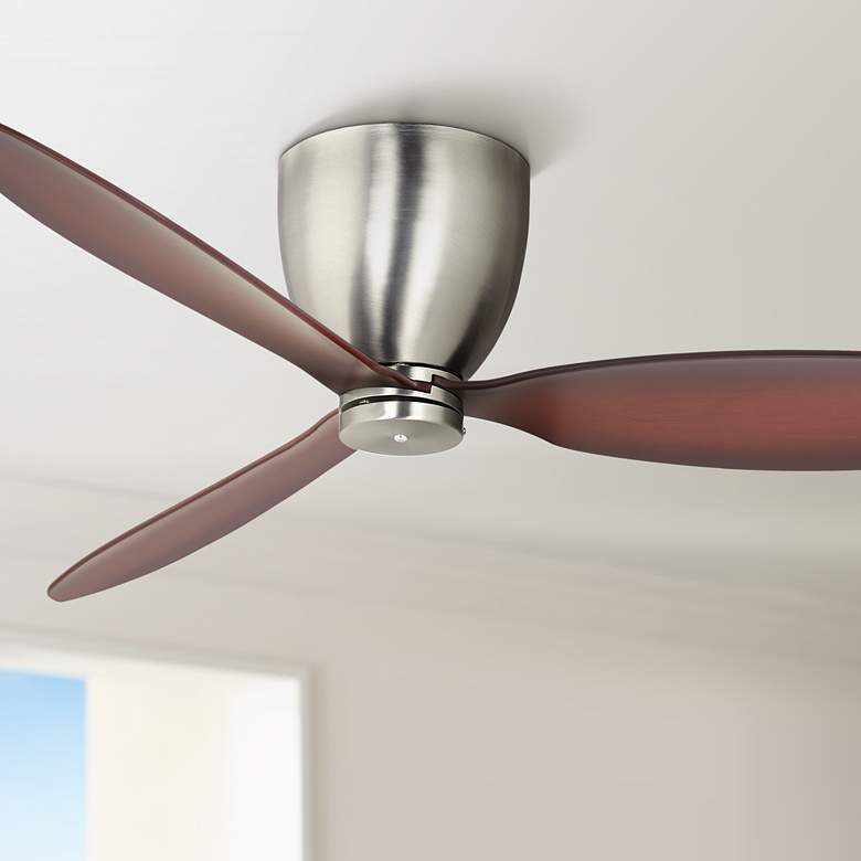 "52"" Casa Orbitor Brushed Nickel Hugger Ceiling Fan"