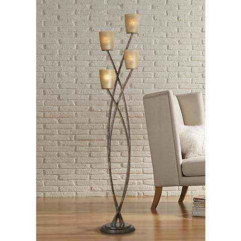 Kathy Ireland Metro Plaza Uplight Copper Bronze Floor Lamp