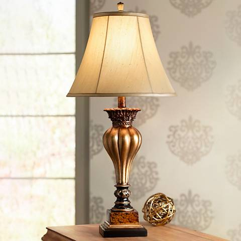 Senardo Gold Table Lamp by Regency Hill