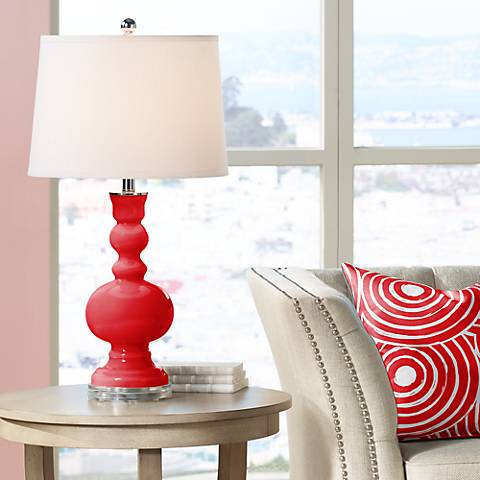 Bright Red Apothecary Table Lamp