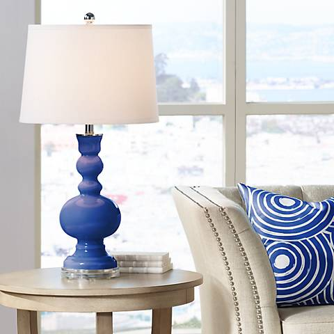 Dazzling Blue Apothecary Table Lamp