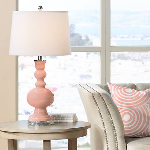 Mellow Coral Apothecary Table Lamp