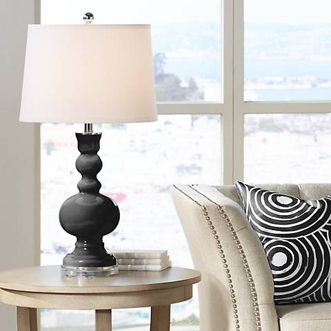 Tricorn Black Apothecary Table Lamp