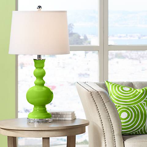 Neon Green Apothecary Table Lamp
