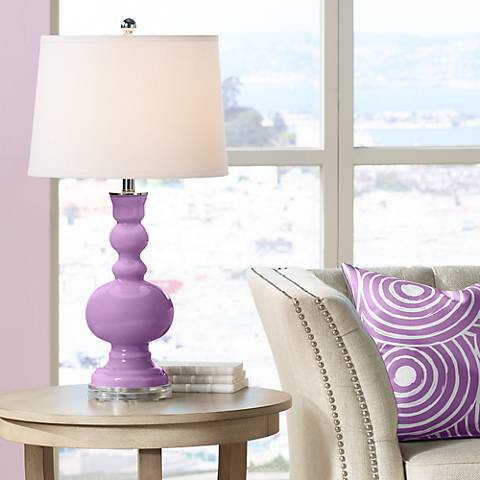 African Violet Apothecary Table Lamp