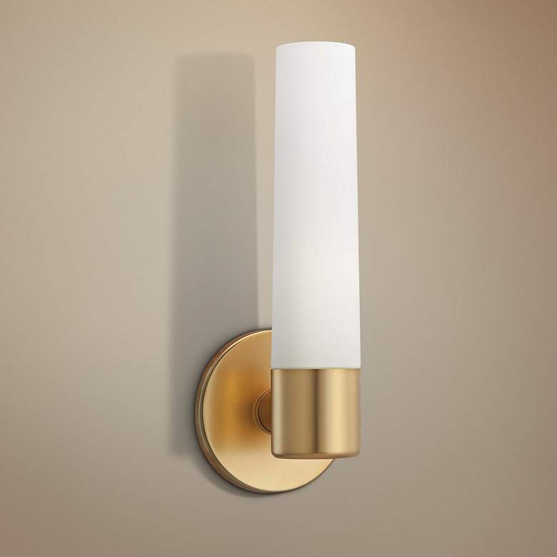 "George Kovacs Saber 12 1/2"" High Honey Gold Wall Sconce"