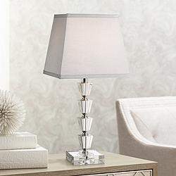 "Deco Collection Moderne Crystal 18"" High Accent Table Lamp"