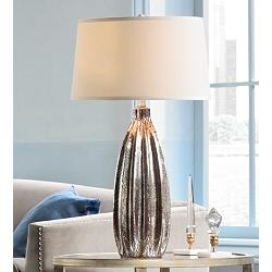 "Stella 30"" High Fluted Mercury Glass Table Lamp"