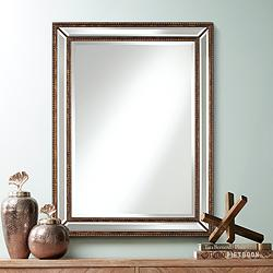 "Uttermost Palais Bronze 30"" x 40"" Beaded Wall Mirror"