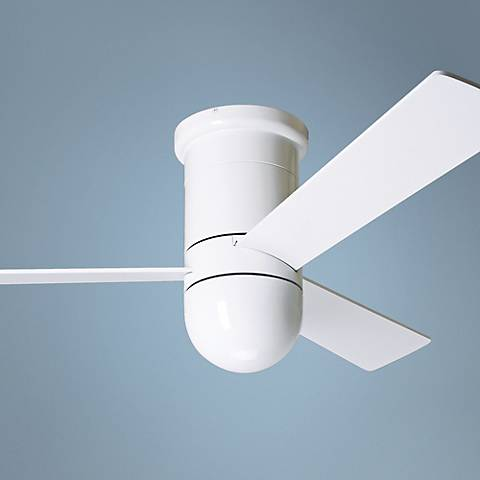 "52"" Modern Fan Cirrus Hugger Gloss White Ceiling Fan"