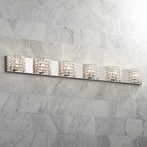 "Vienna Full Spectrum Cesenna 55"" Wide Crystal Bath Light"
