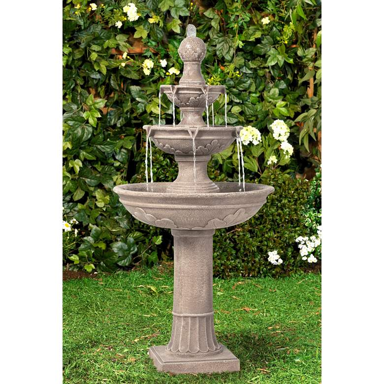 "Stafford 48"" High Three Tier Traditional Garden Fountain"
