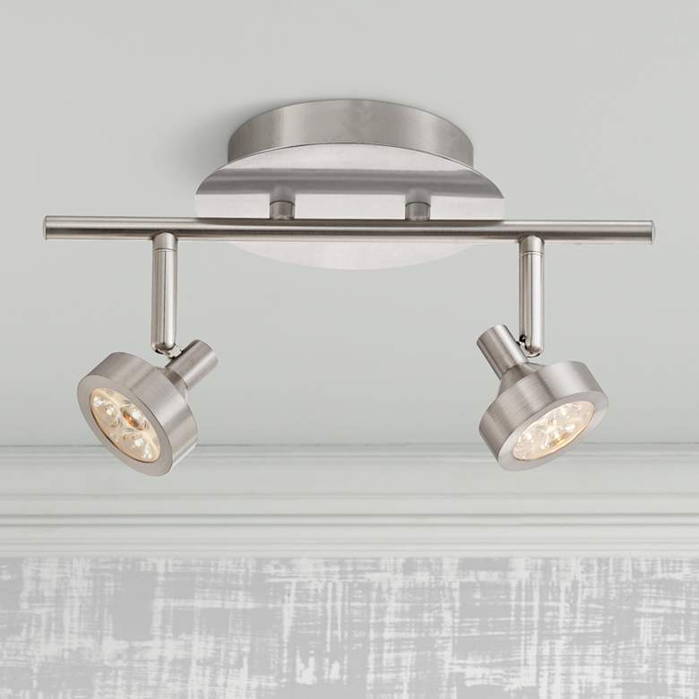Tilden 2 Light Led Brushed Nickel Track Fixture By Pro