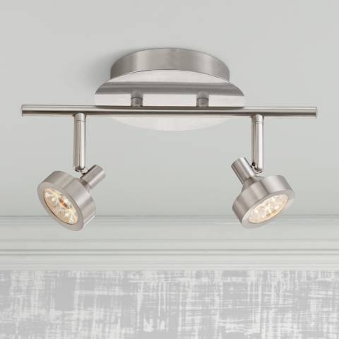 Pro Track Tilden 2 Light Led Brushed Steel Track Fixture