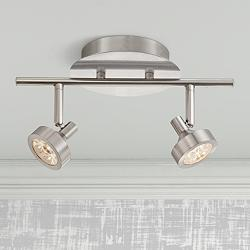 Tilden 2-Light LED Brushed Nickel Track Fixture by Pro-Track
