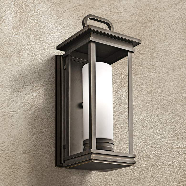 "Kichler South Hope 17 3/4"" High Bronze Outdoor Wall Light"