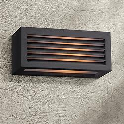 "Madrid 10"" Wide Bronze Outdoor Wall Light"